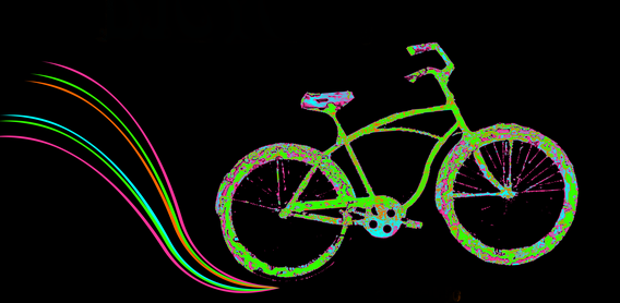 vélo sur fond noir