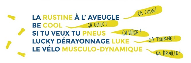 La rustine à l'aveugle - Be cool - Si tu veux tu pneus - Lucky dérayonnage Luke - Le vélo musculo-dynamique